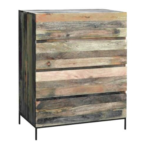 Saddington Mango Wood 4 Drawer Tallboy