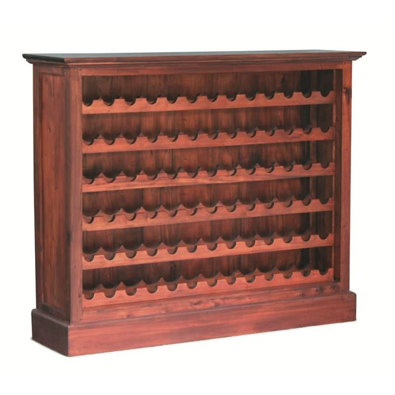 78-Bottle Solid Mahogany Wine Rack - Mahogany