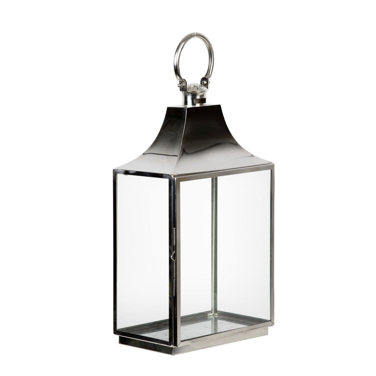 Aurielo Stainless Steel & Glass Lantern, Large