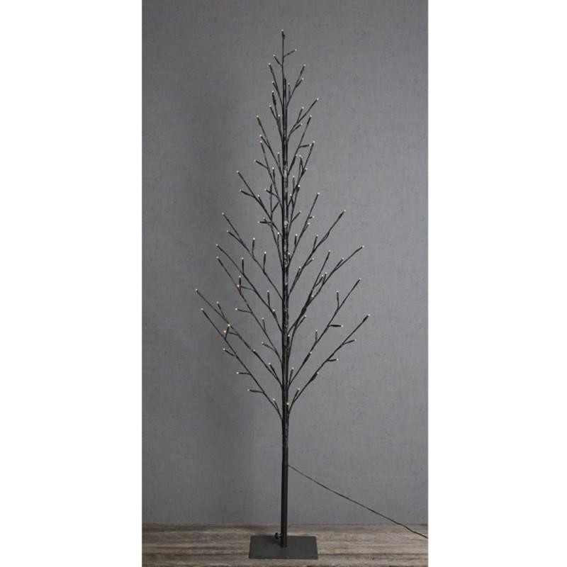 Ravi LED Light Up Twig Tree, 150cm, Black