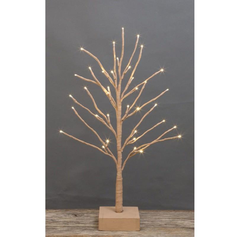 Hollis Tabletop LED Light Up Twig Tree, 60cm, Latte