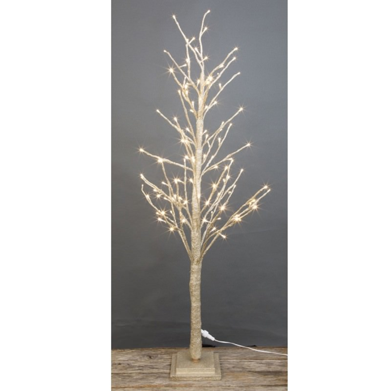 Shelley LED Light Up Twig Tree, 120cm, Champagne