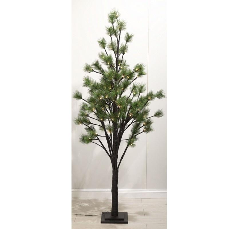 Saniya LED Light Up Artificial Pine Tree, 180cm