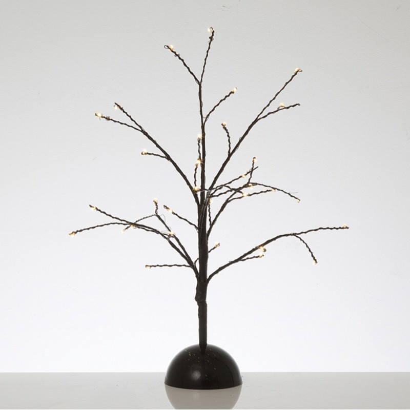 Kiyan Twisted Wire Tabletop LED Light Up Twig Tree, 40cm