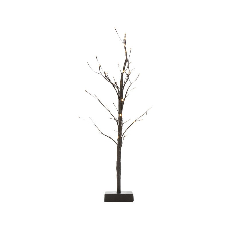 Kiyan Twisted Wire Tabletop LED Light Up Twig Tree, 60cm
