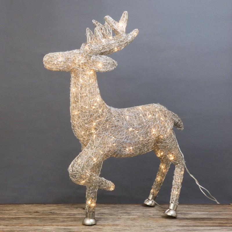 Asa LED Light Up Wire Reindeer Ornament, 84cm