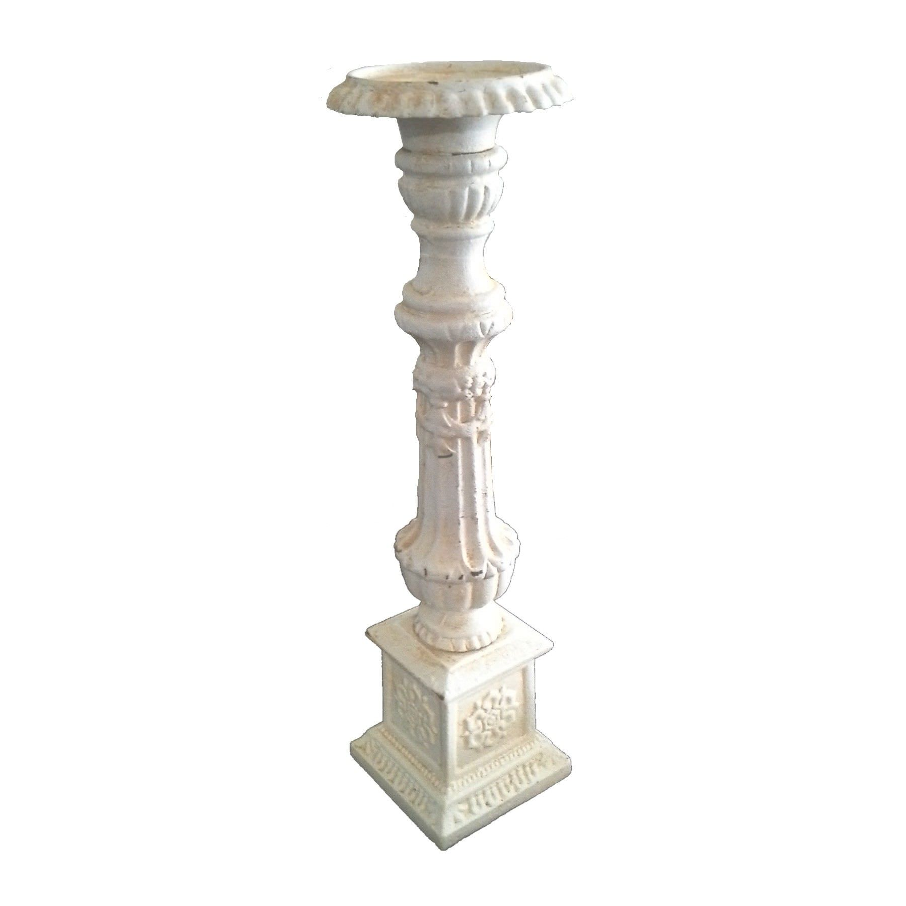 Chiswick Cast Iron Candlestick, Antique White