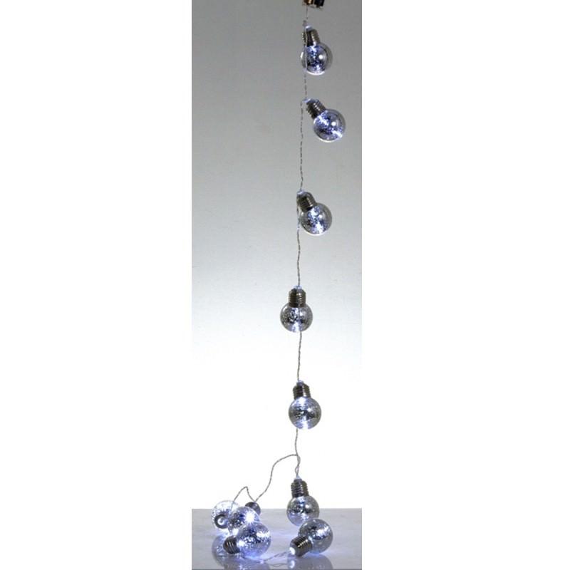 Bulb Bunch LED String Light, 180cm, Mercury