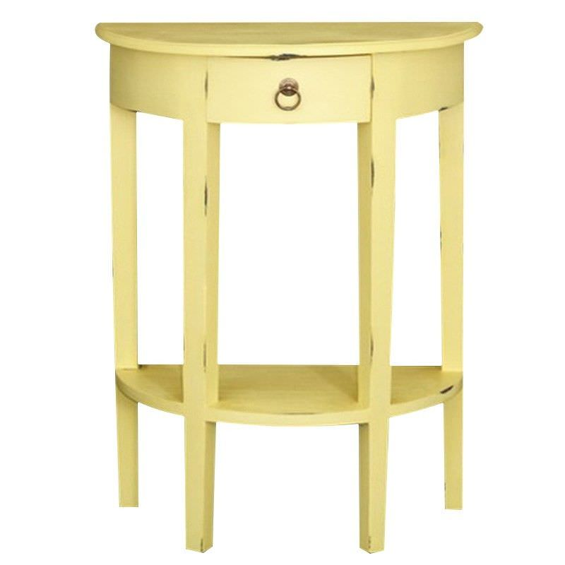 Half Round Sofa Table - Olympic Yellow