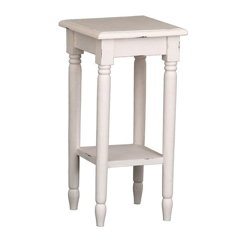 Lamp Table - Rose White