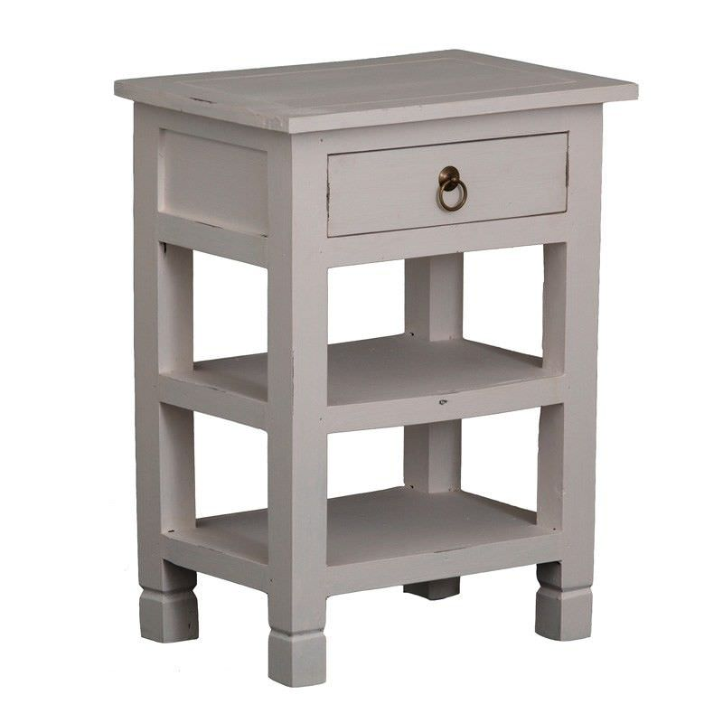 Solid Timber Sofa Table in Rose White - 66cm