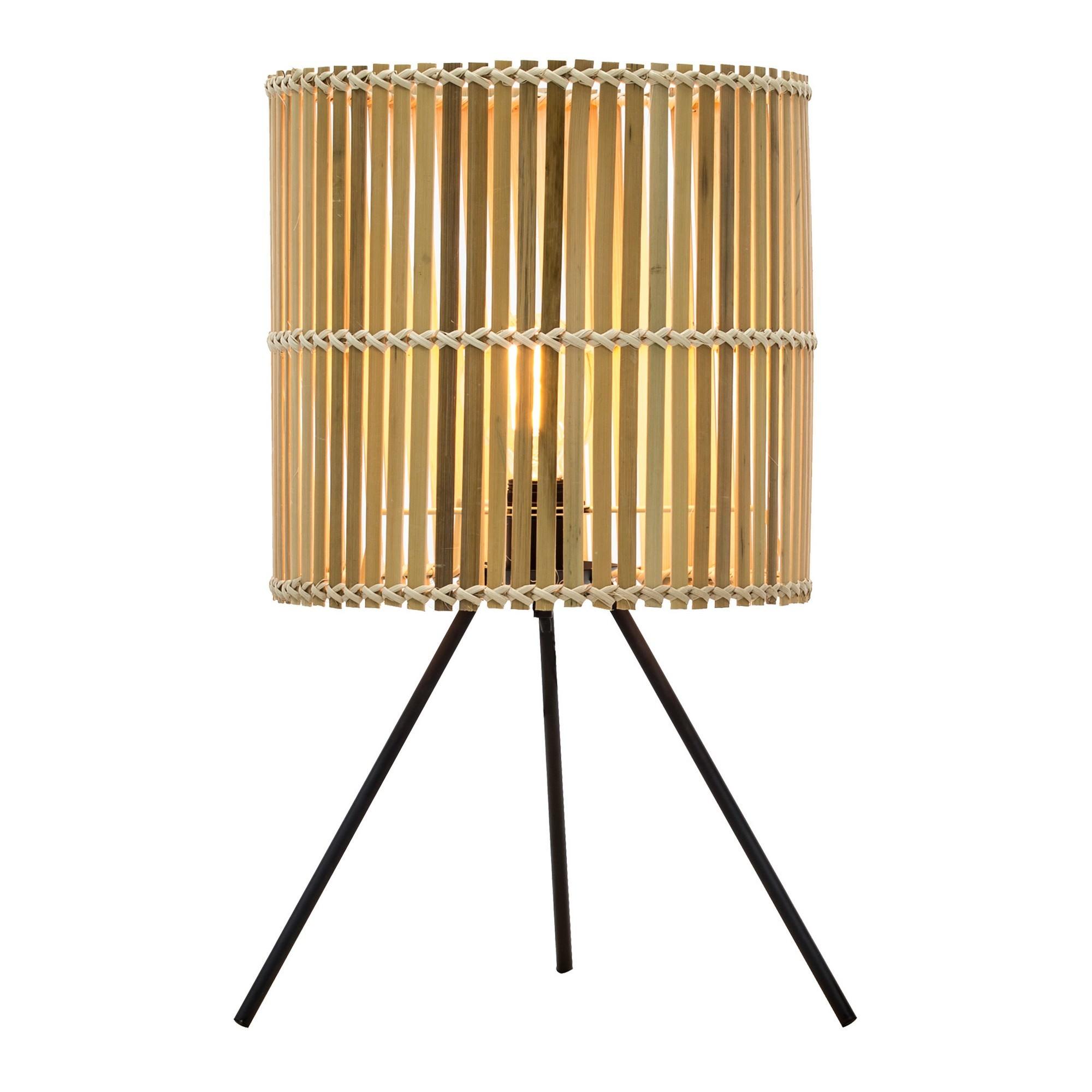 Bermuda Bamboo & Iron Tripod Table Lamp