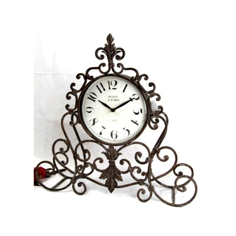 Iron Standing Rustic Clock
