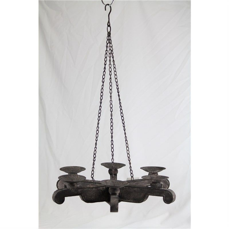 Metal Rustic Ceiling Hanging Candle Holder