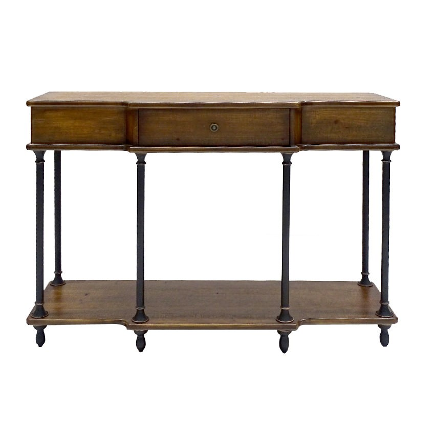Perkins Timber & Metal Console Table, 118cm