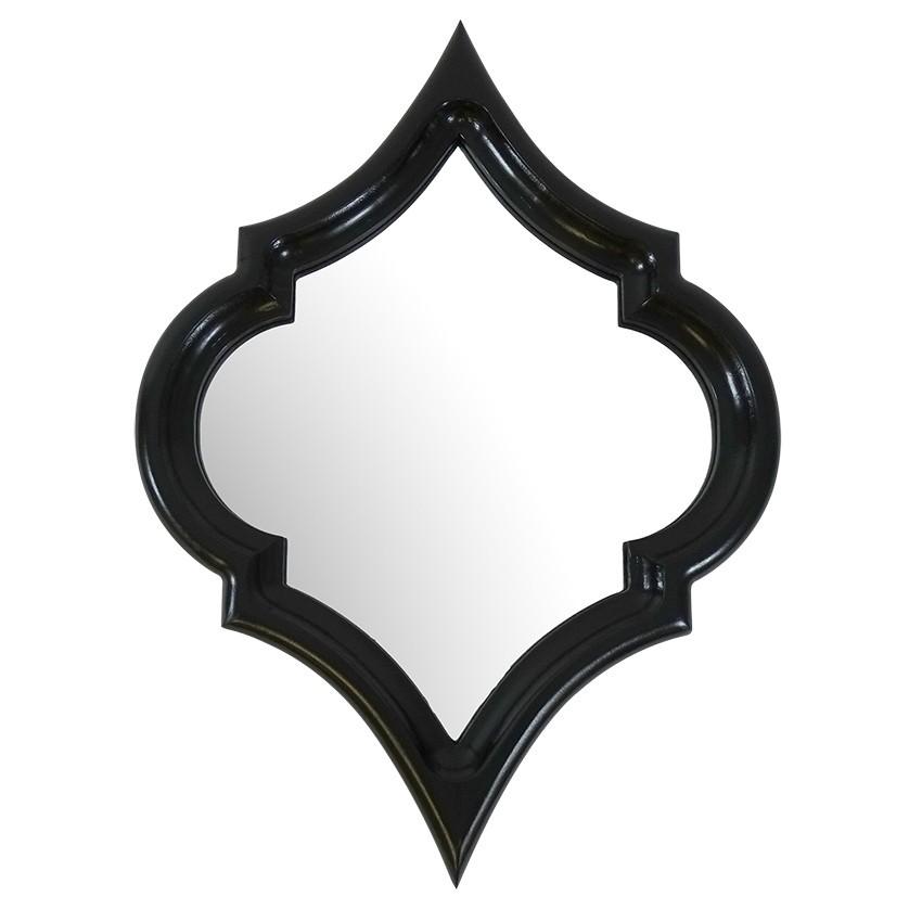 Marsa Wall Mirror, 60cm, Black