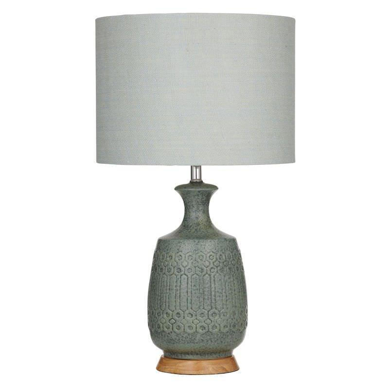 Marley Ceramic Table Lamp, Green
