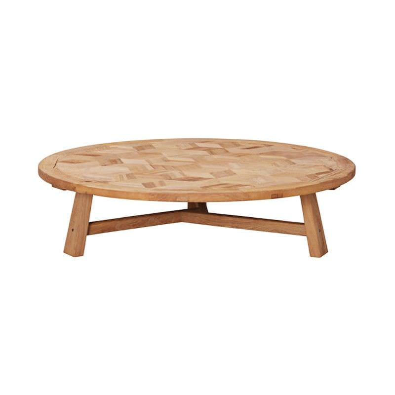 Braxton Elm Timber Round Coffee Table, 140cm