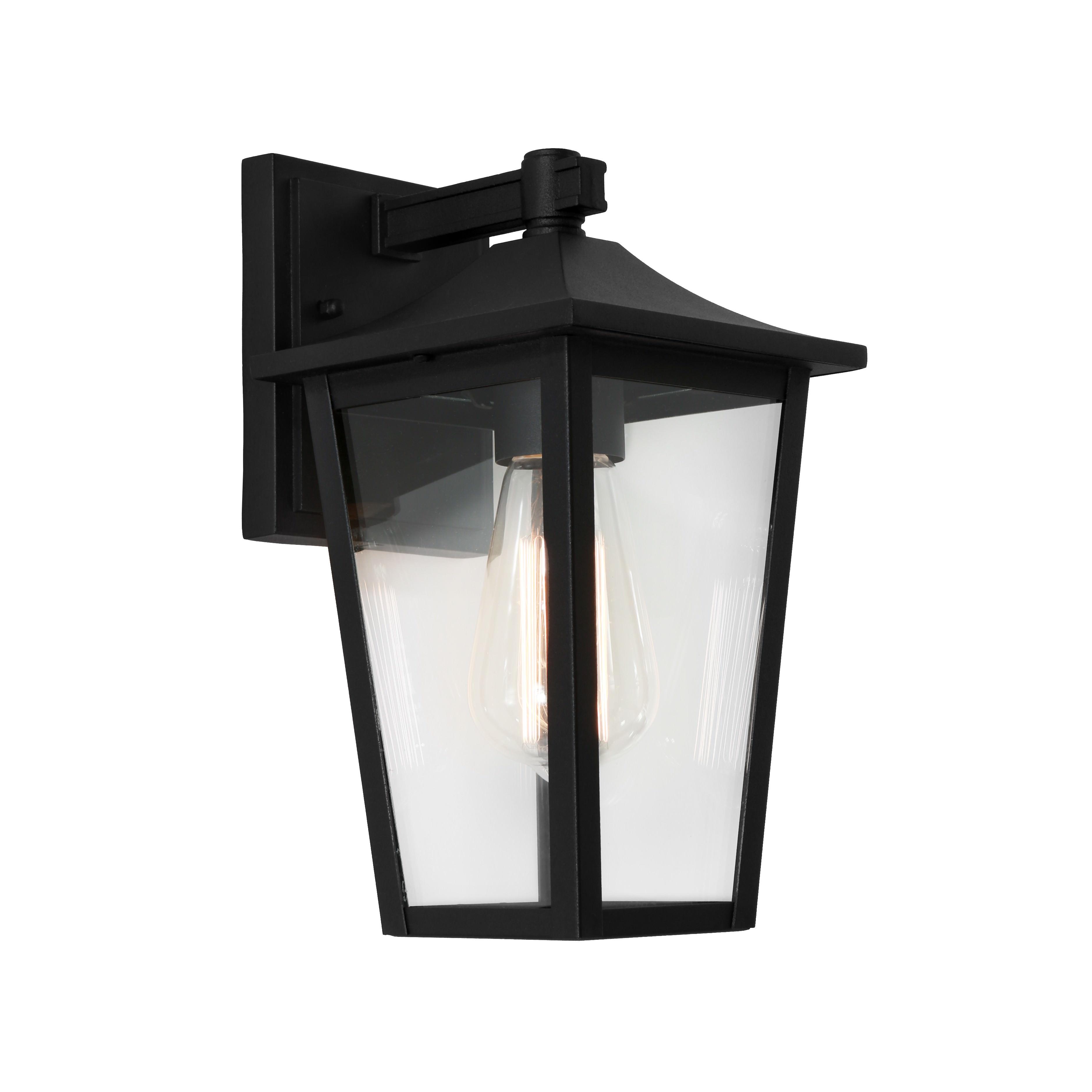 York Commercial Grade IP43 Exterior Wall Lantern, Black