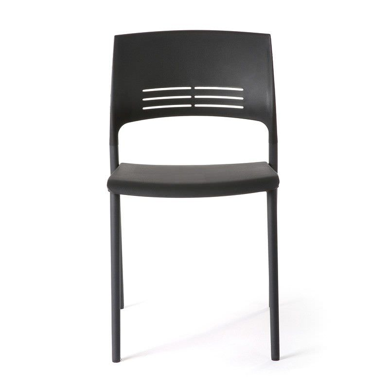 Eternia Stackable Side Chair, Black