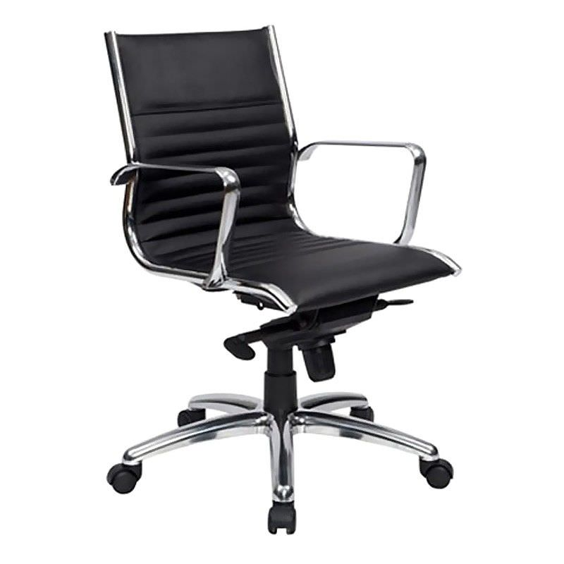 Cogra PU Leather Mid Back Executive Chair, Black