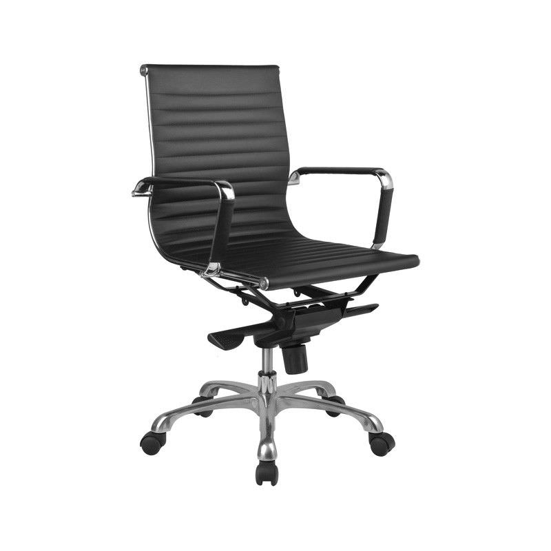Naples PU Leather Mid Back Executive Chair