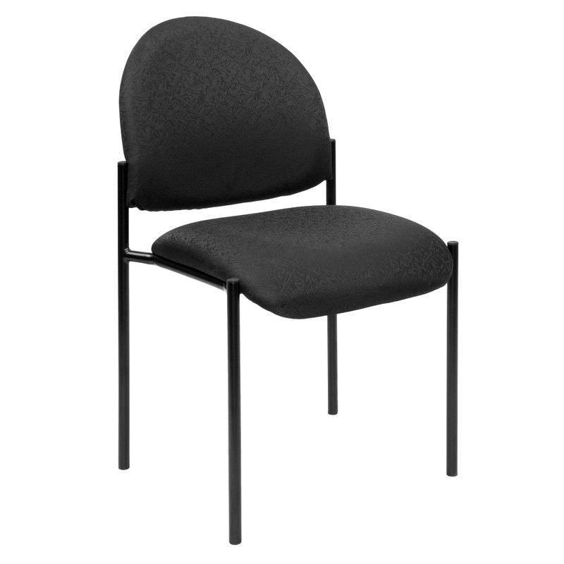 Felman Stackable Fabirc Visitor Chair, Black