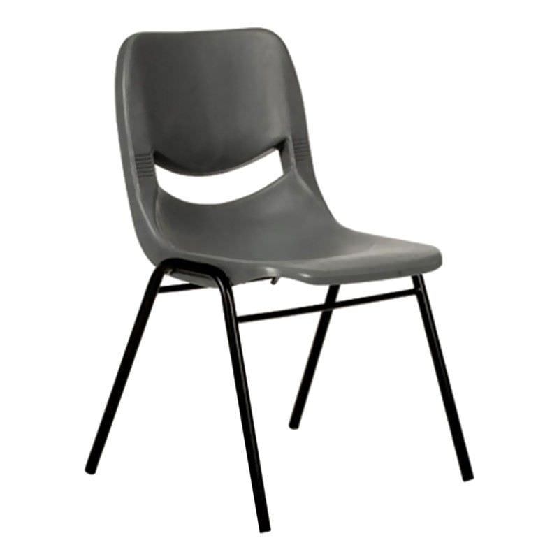 Hoxton Stackable Side Chair, Grey