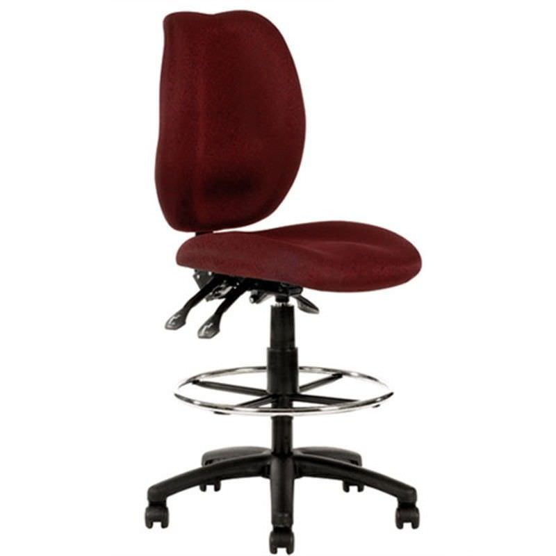 Sabina Burgundy Chair with Drafting Ring - YS43D