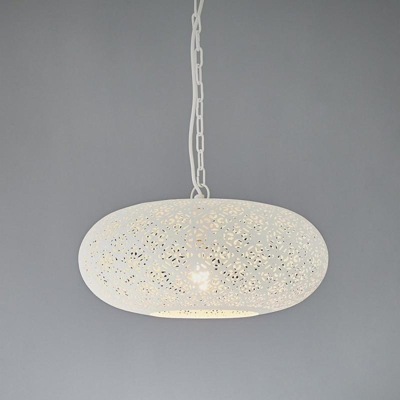 Luna Perforated Metal Pendant Light, Ellipse