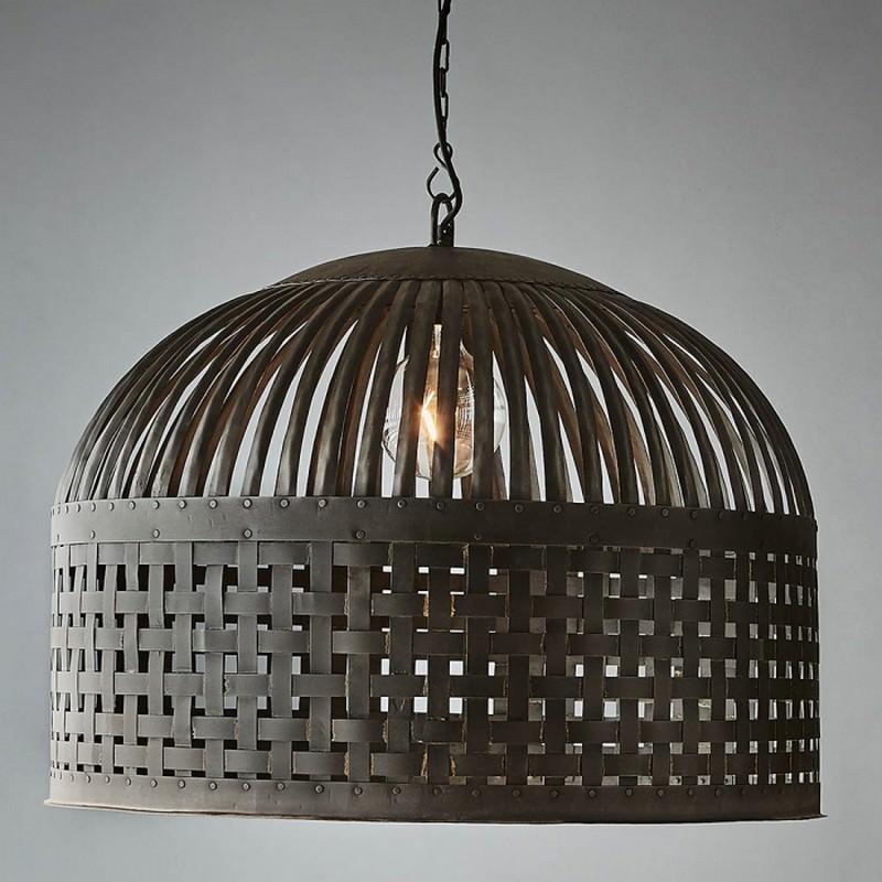Esch Iron Pendant Light Large Antique Black