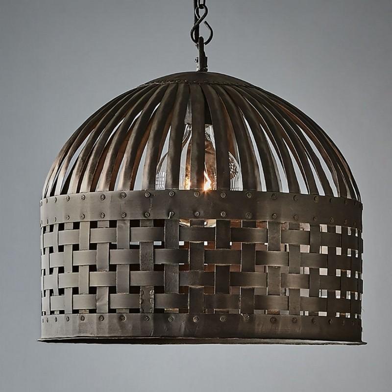 Esch Iron Pendant Light Medium Antique Black