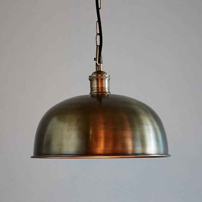 Jena Solid Brass Dome Pendant Light