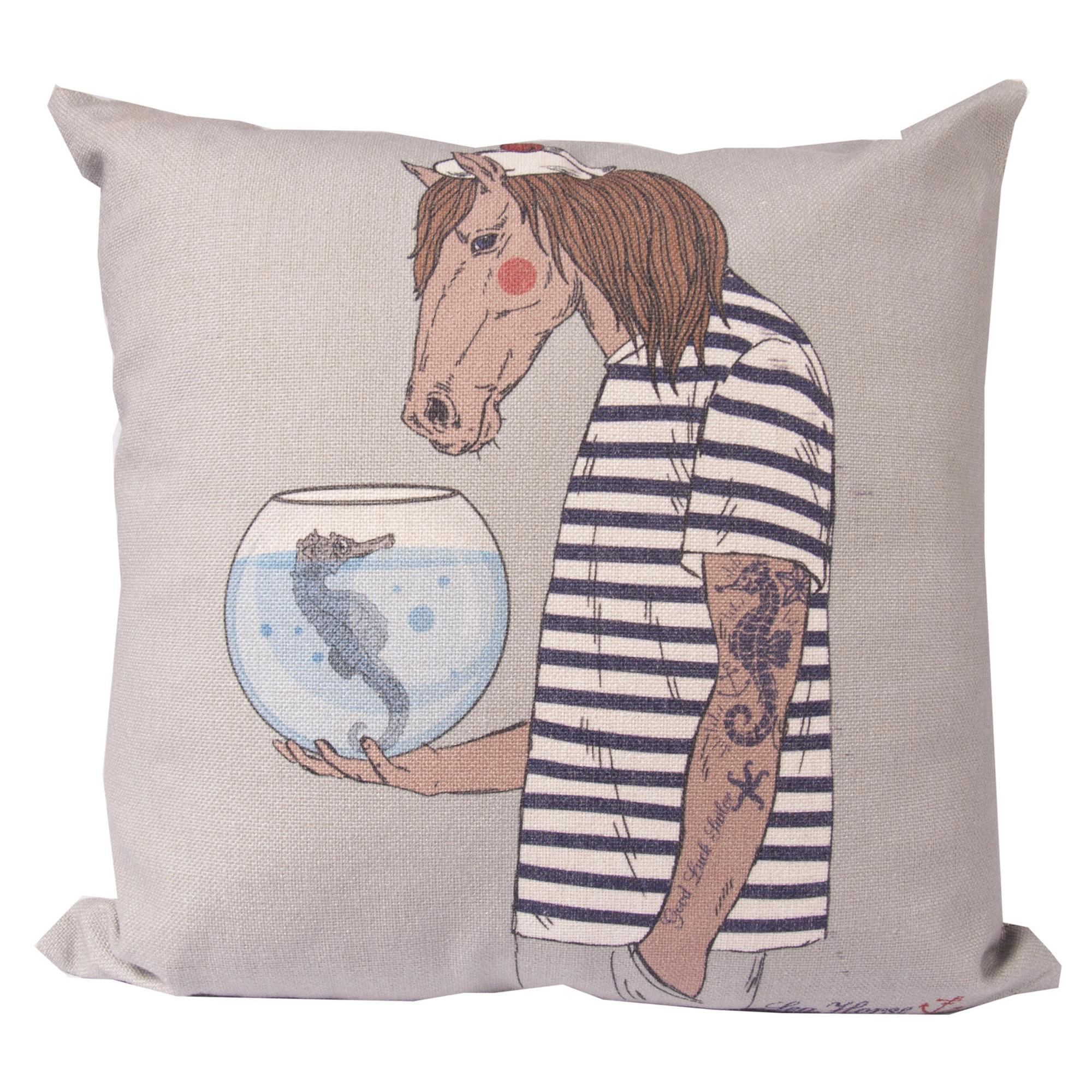Horse See Horse Scatter Cushion Cover