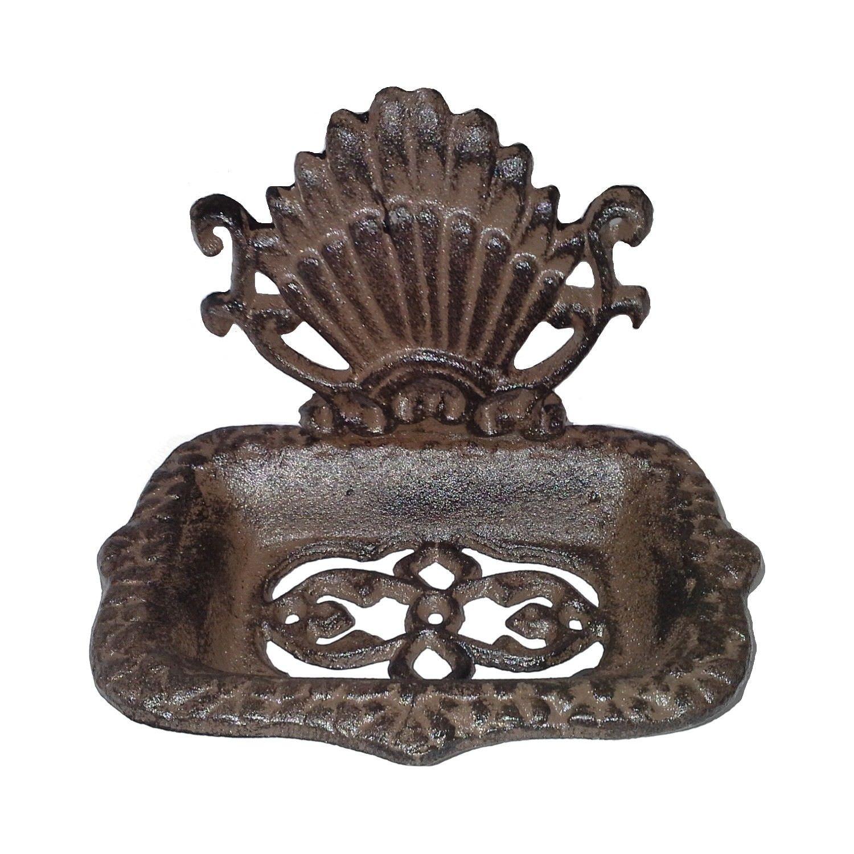 Morven Cast Iron Soap Holder, Antique Rust