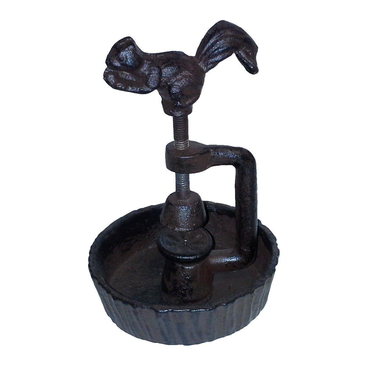 Cast Iron Squirrel Screw Nut Cracker, Antique Rust