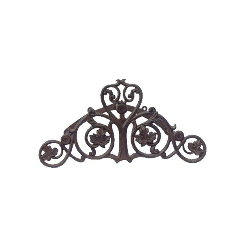 Grape Vine Cast Iron Garden Hose Holder, Antique Rust