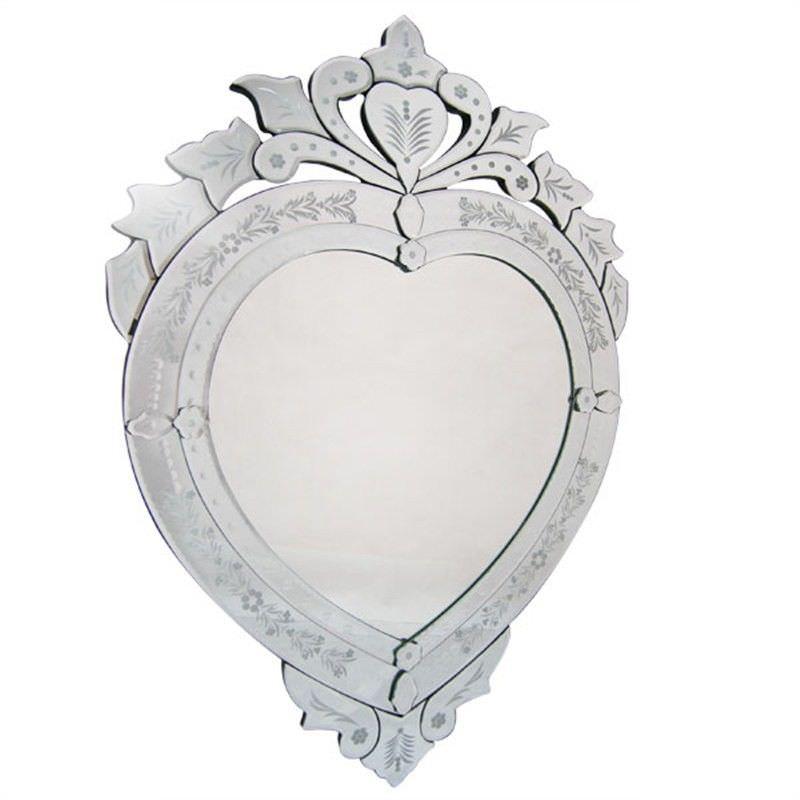 Venetian Heart Shaped Large Mirror