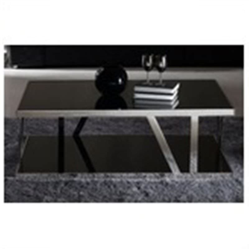 Sebastien Tempered Glass & Stainless Steel Coffee Table, 120cm