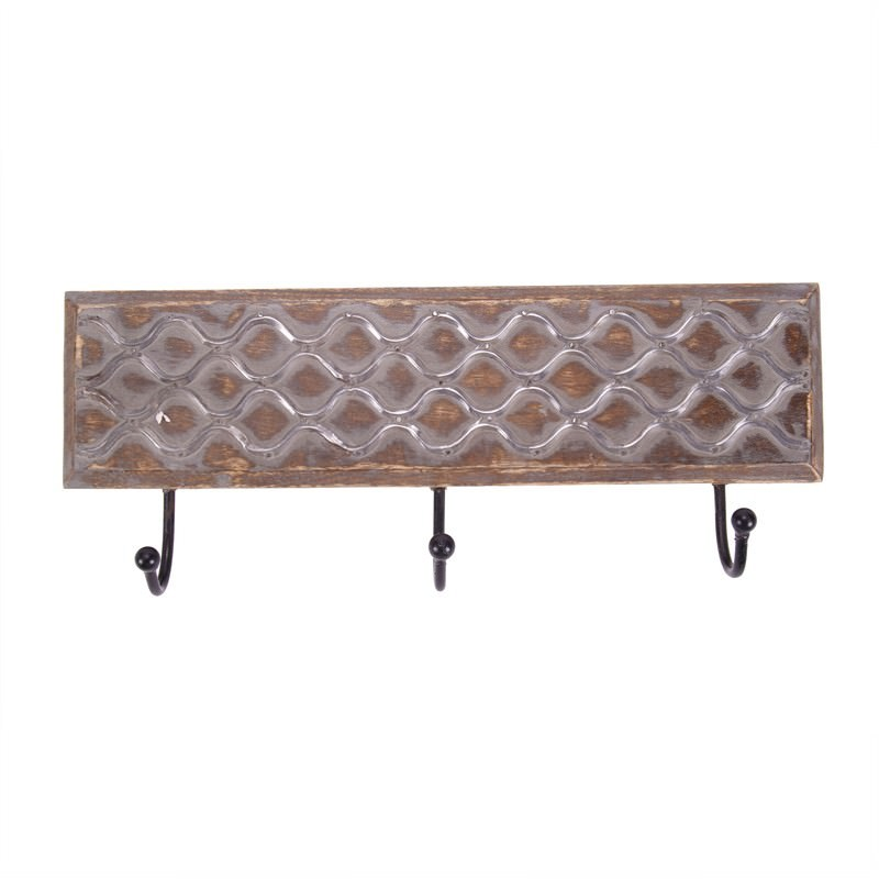 3 Hook Coat Rack Abstract A-G