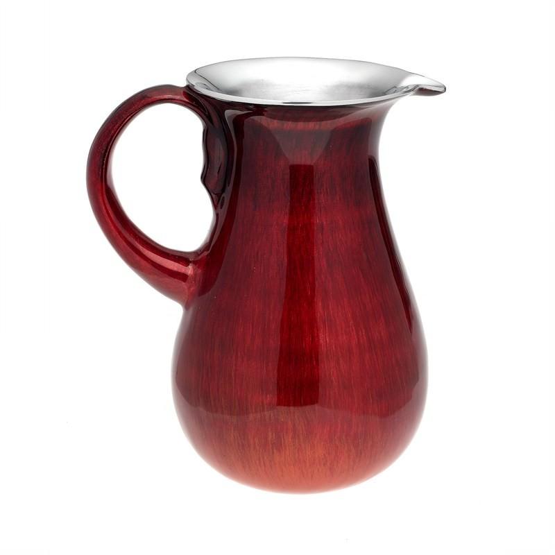 Red Alum. Jug - 22cm