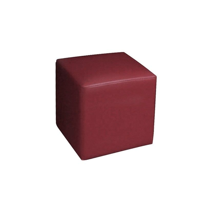 Square Ottoman in Red