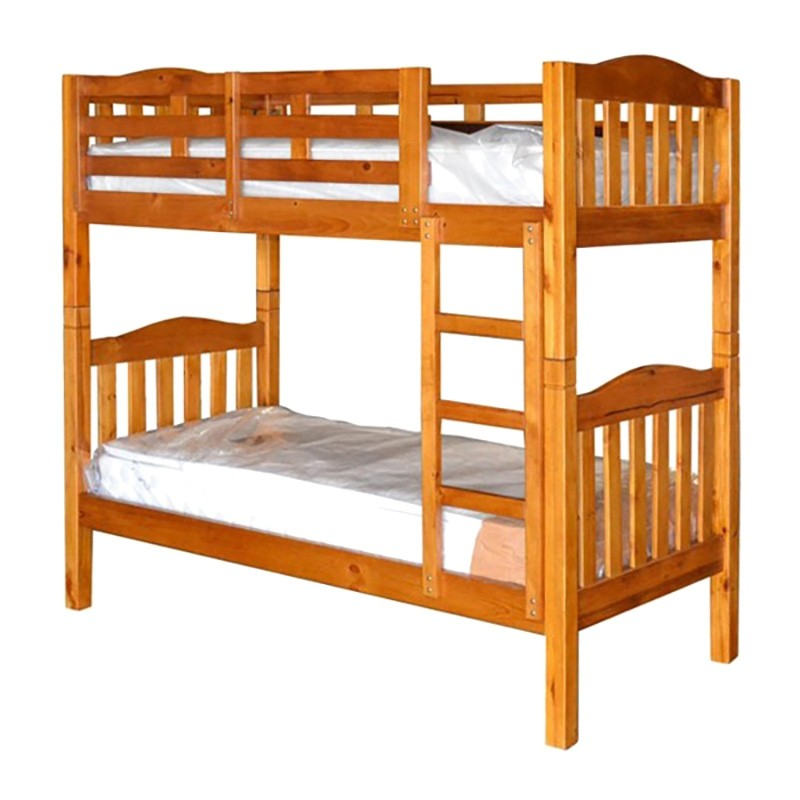 Adelaide Timber Single Bunk Bed In Chestnut