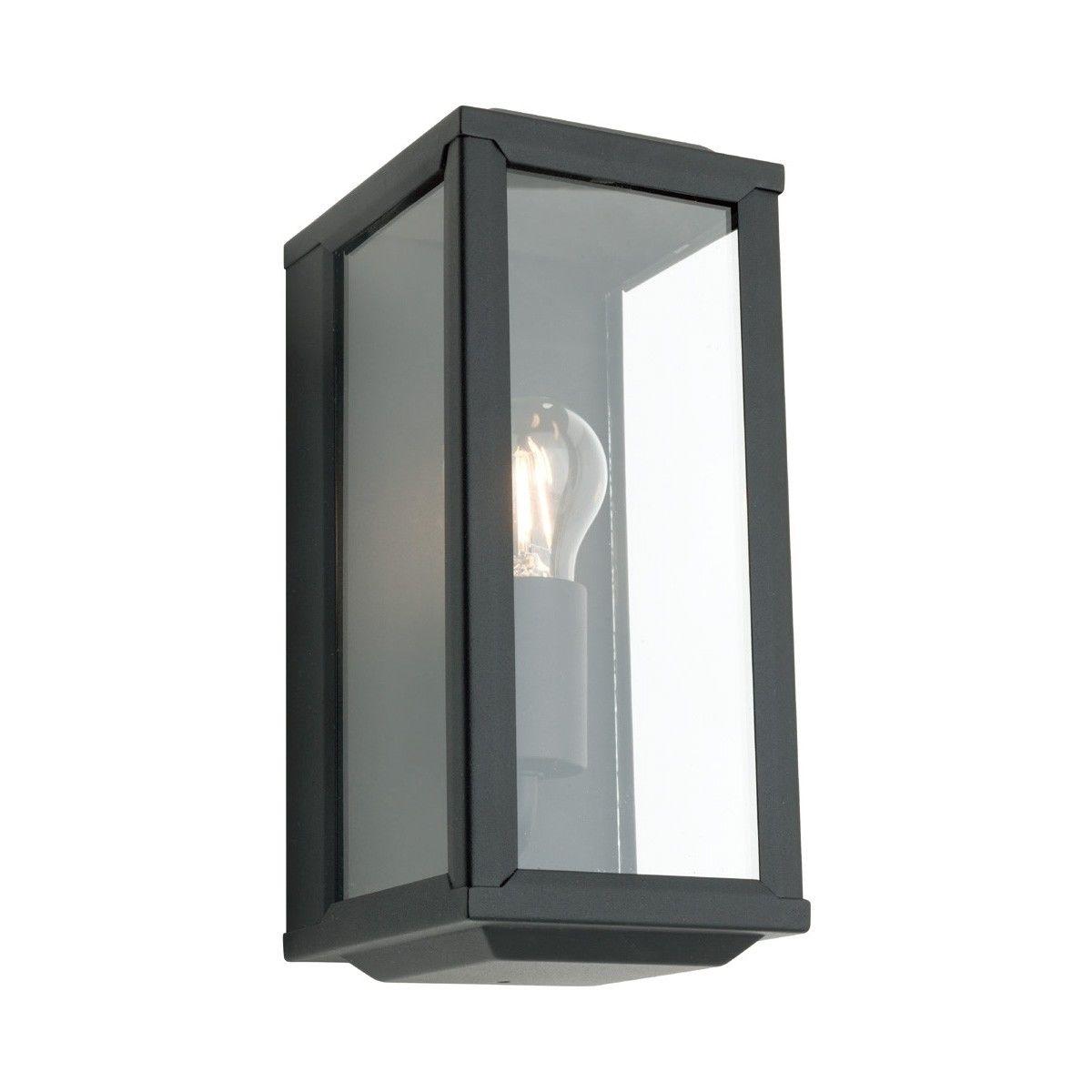 Anglesea Metal and Glass IP44 Outdoor Wall Light - Black
