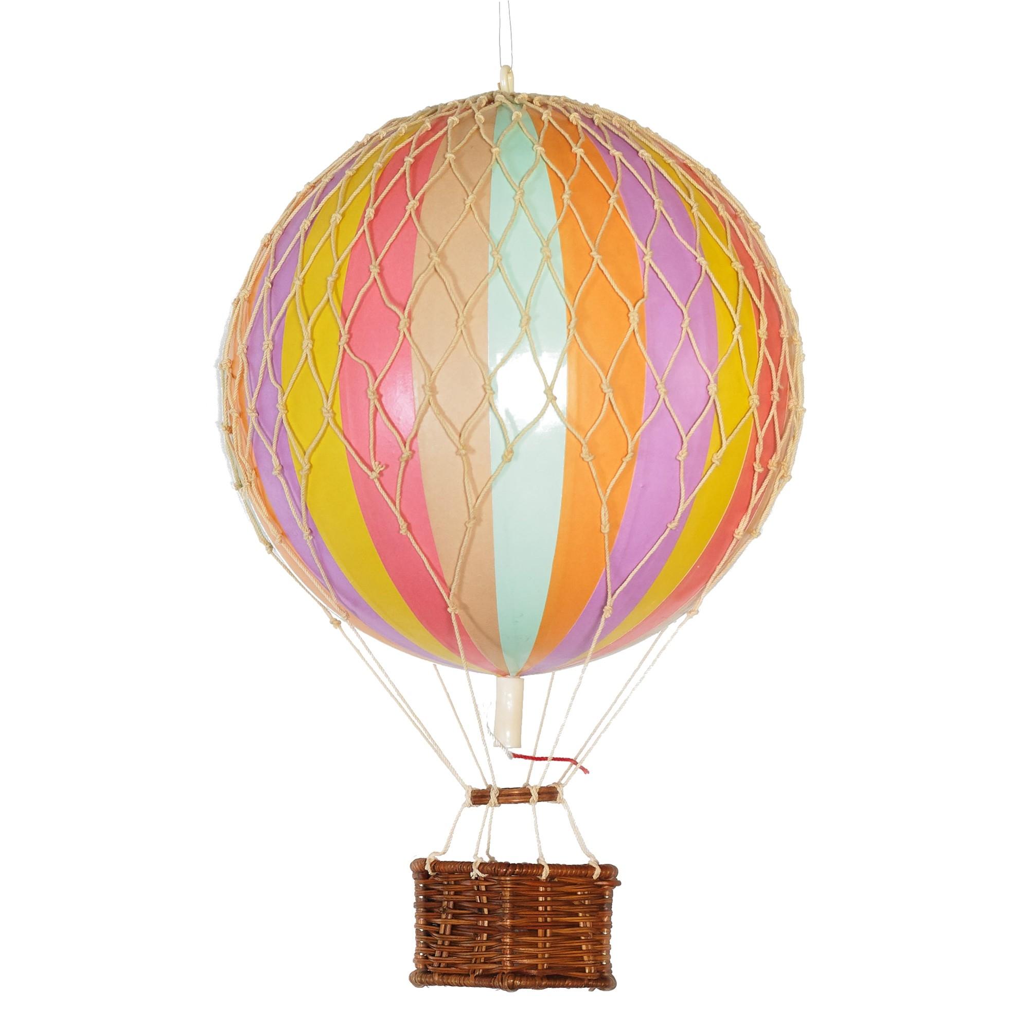 Floating The Skies Hot Air Balloon Model, Pastel Rainbow