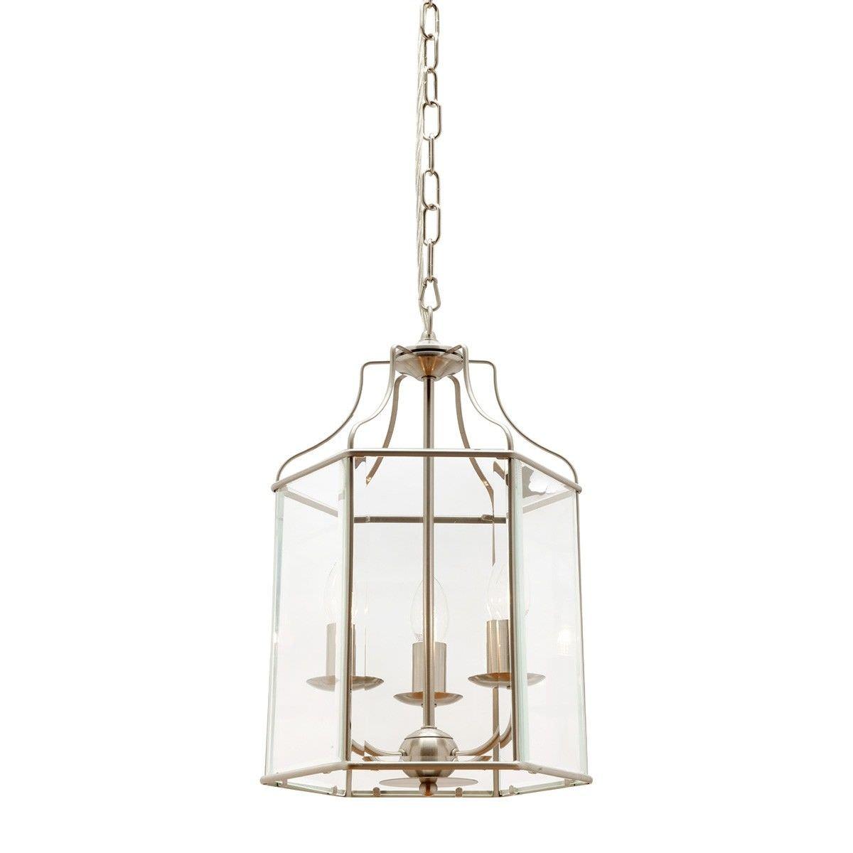 Arcadia Metal & Glass Pendant Light, Medium, Chrome