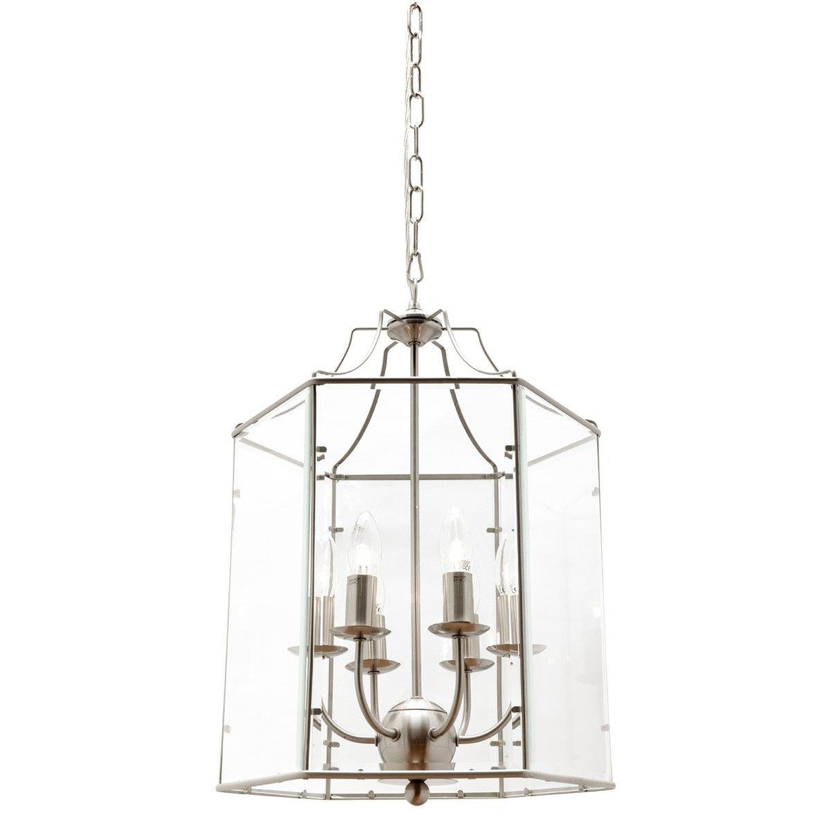 Arcadia Metal & Glass Pendant Light, Large, Chrome