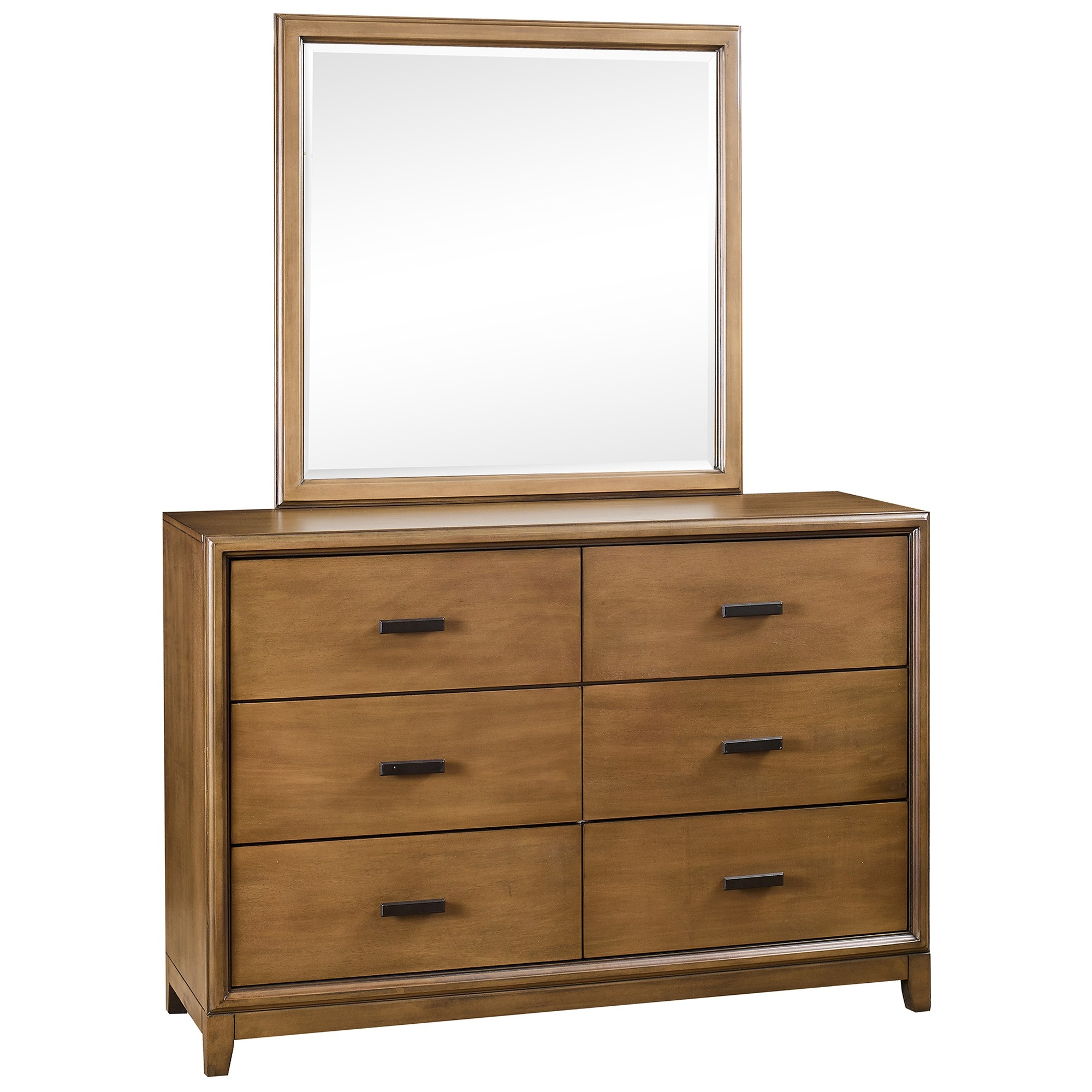 Mornington Poplar Timber 6 Drawer Dresser