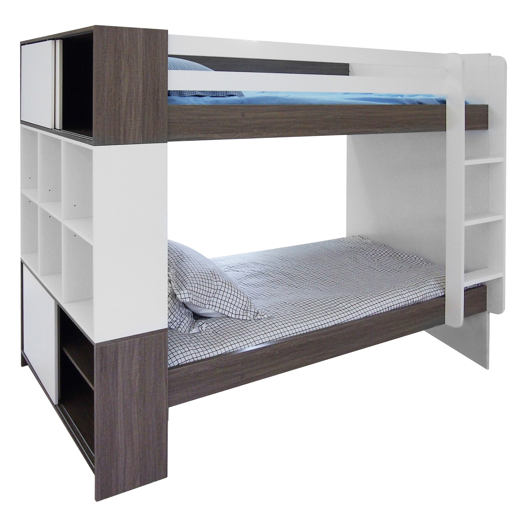 Kube Bunk Bed with Storage Shelf, King Single