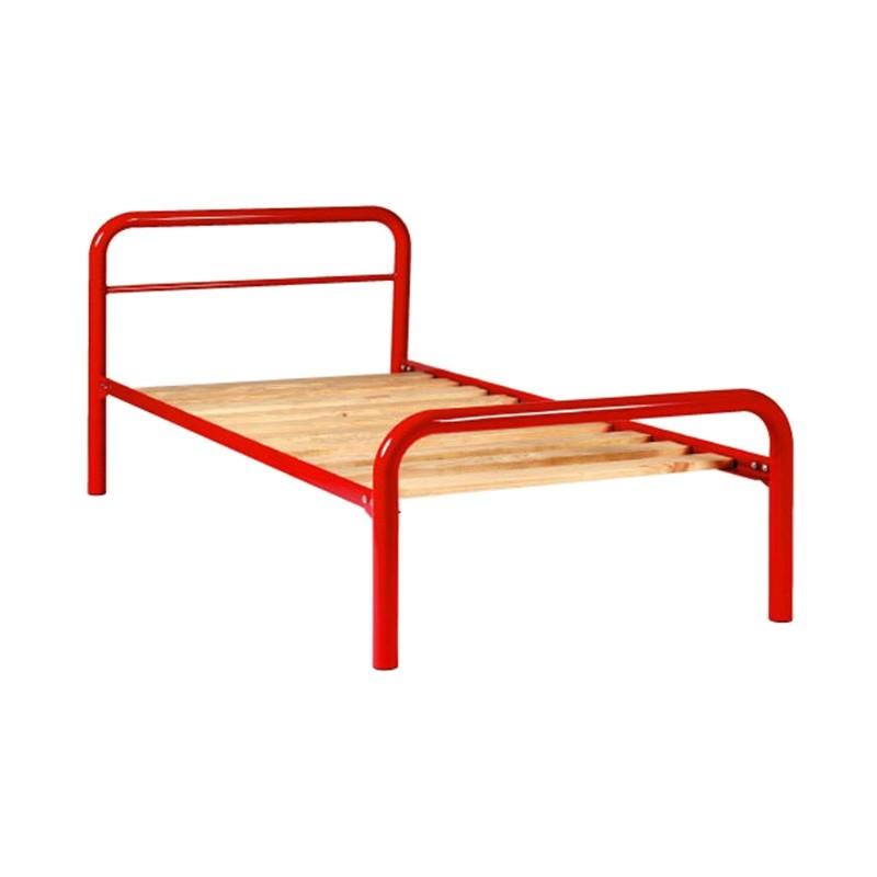 Tubeco Budget Australian Made Metal Bed, Single, Red